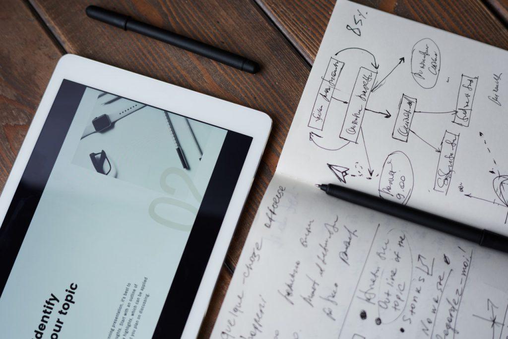 Aantekeningen met tablet